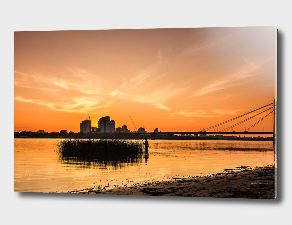 Sunset at Dnipro