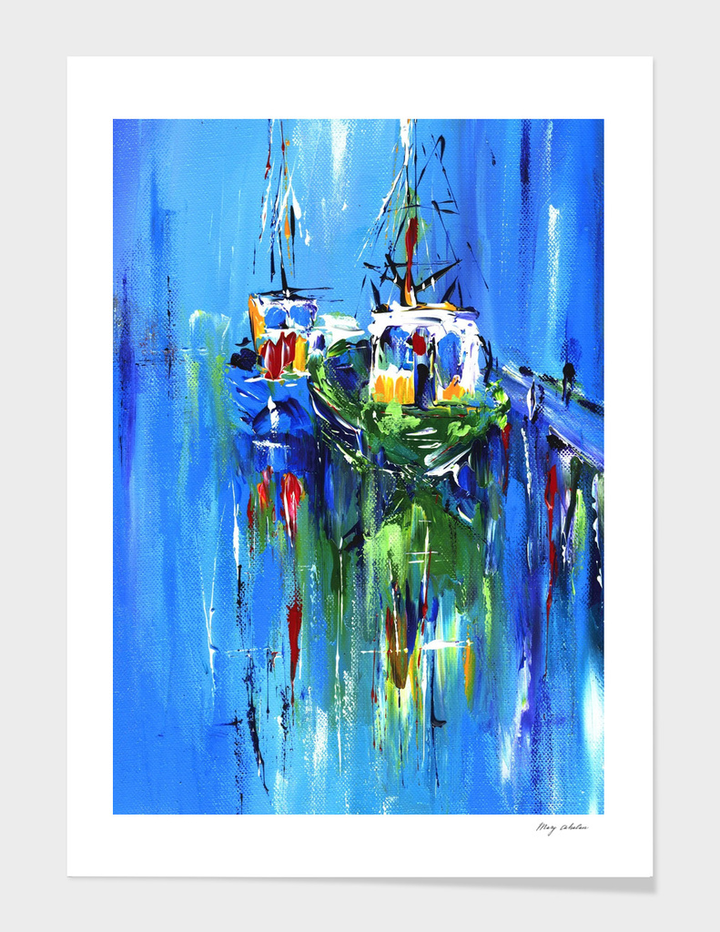 abstract boats