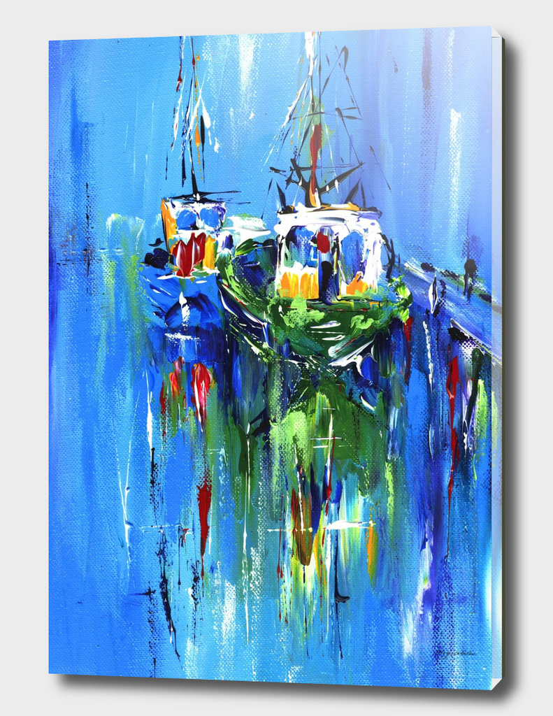 abstract boats