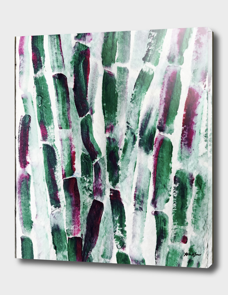 Greenery and Purple Art Sugar Cane