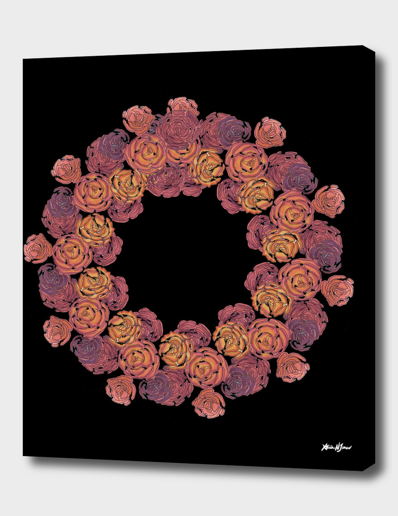 Rosey Rose Wreath, Pink