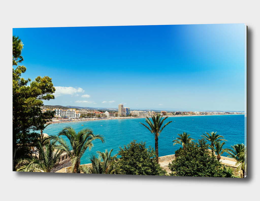 Panoramic View Of Peniscola City In Spain
