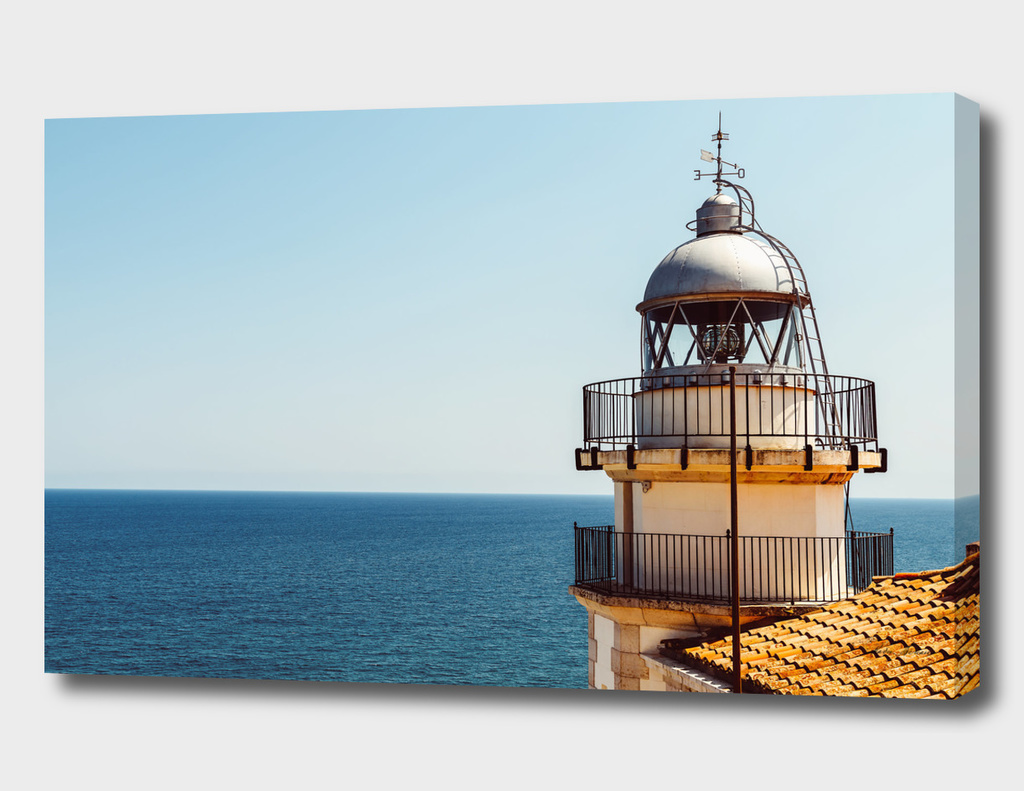 Lighthouse Of Papa Luna Castle In Peniscola, Spain