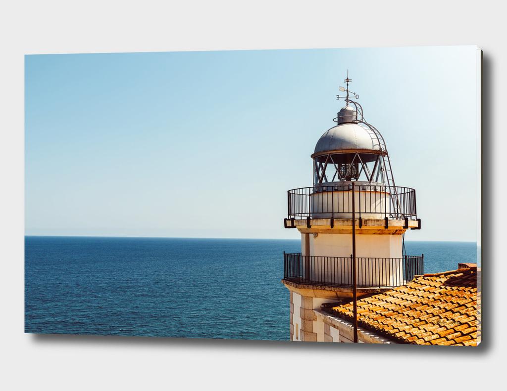 Lighthouse Of Papa Luna Castle In Peniscola, Spain