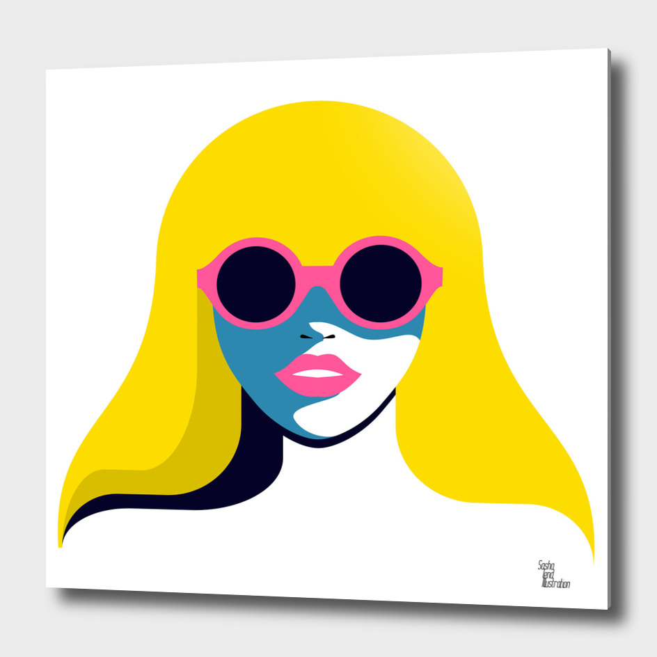 Woman in Rounded Sunglasses
