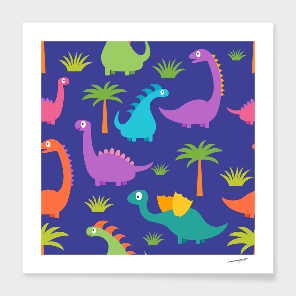 Dino Patterned Artwork