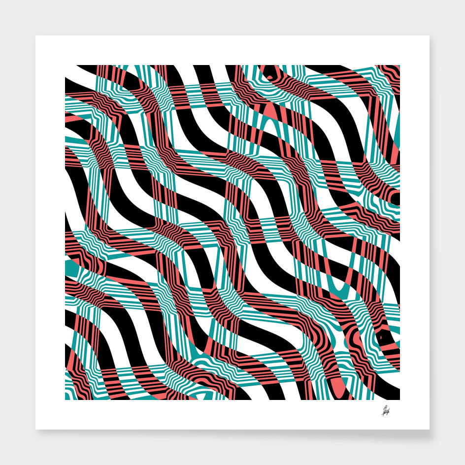Abstract Wavy Stripes