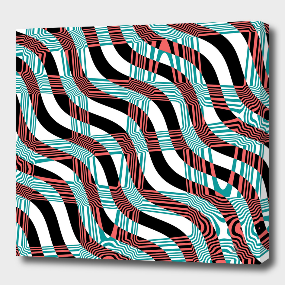 Abstract Wavy Stripes