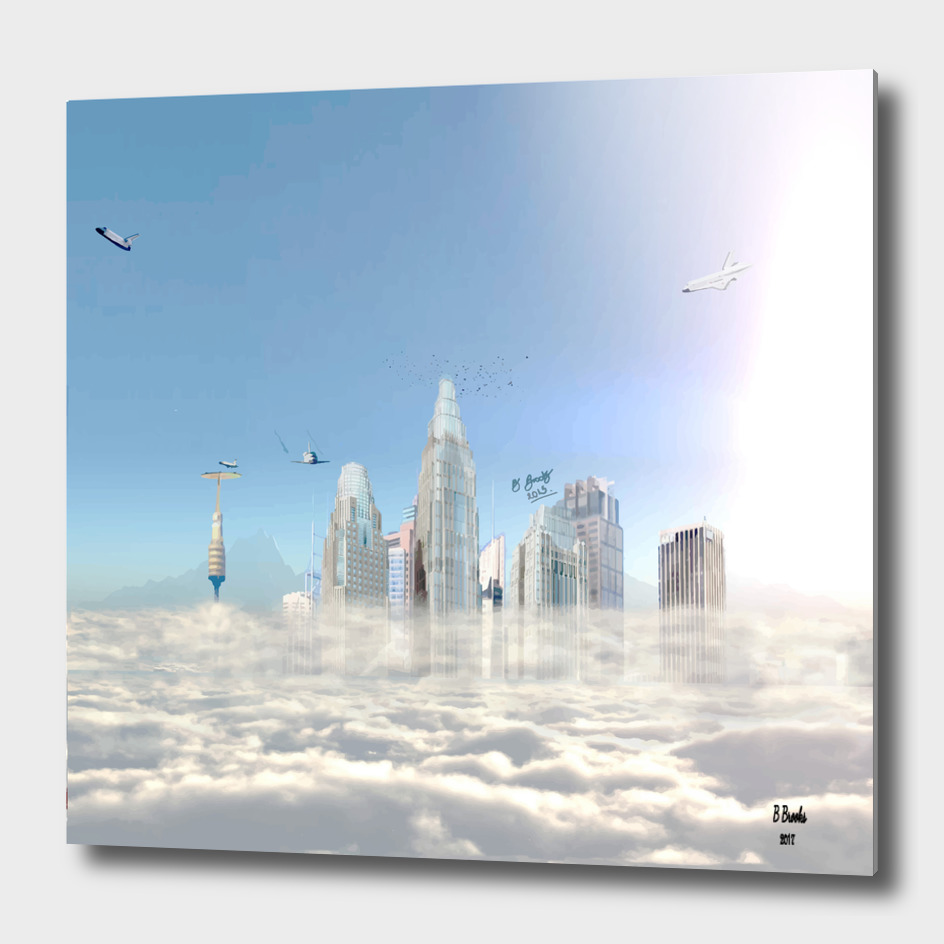 city in the clouds  (bright)