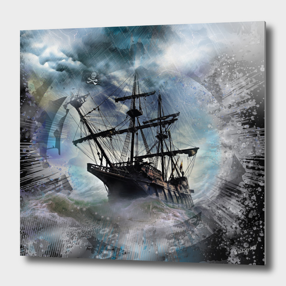 Pirate Ship Rough Storm