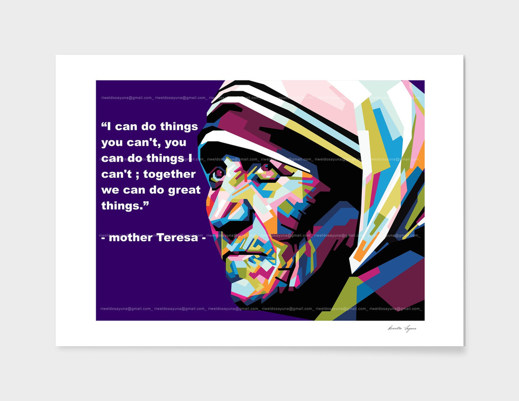 Mother Teresa in WPAP art