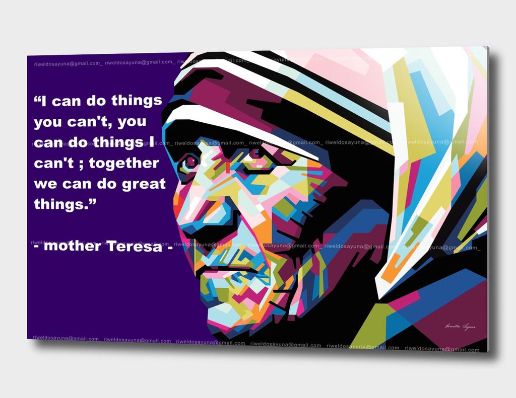 Mother Teresa in WPAP art