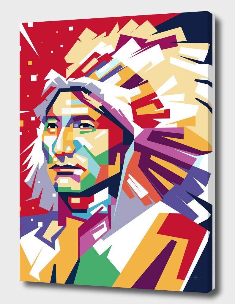 Apache in WPAP art
