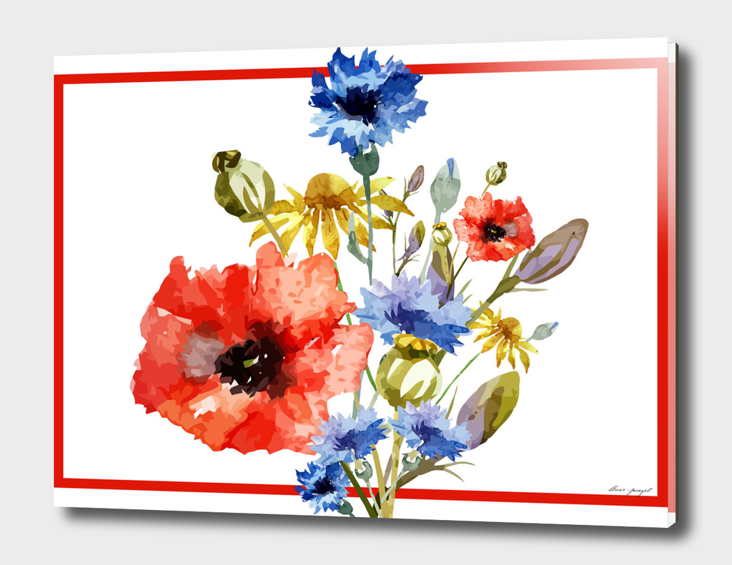 hand painting floral frame