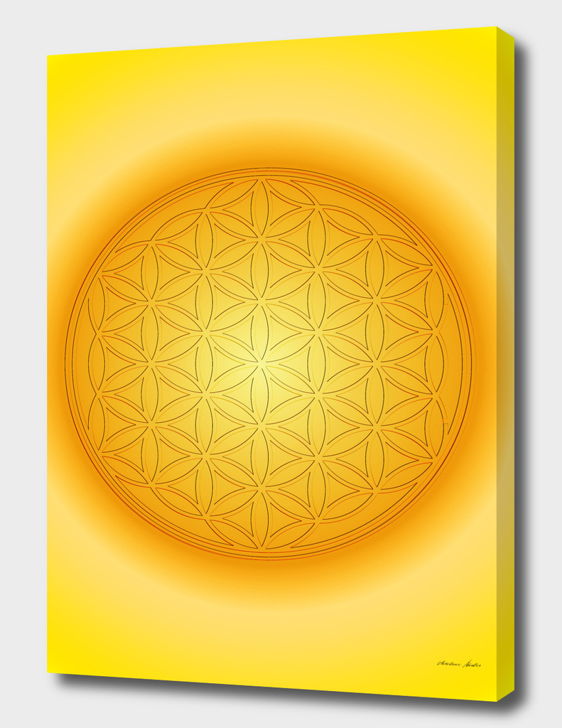 Flower of life yellow