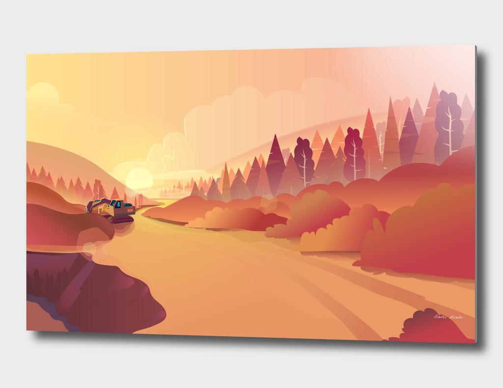 Gold Mining  Illustration