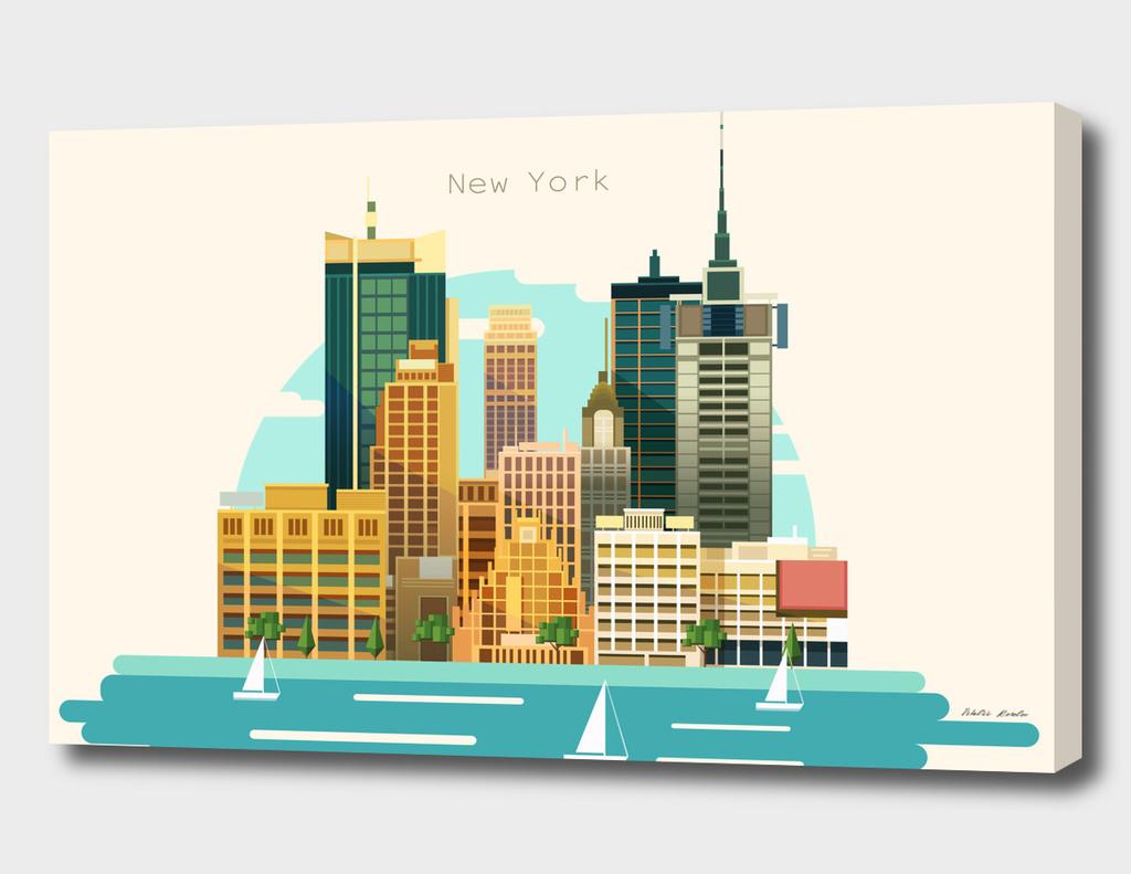 Flat City Illustration