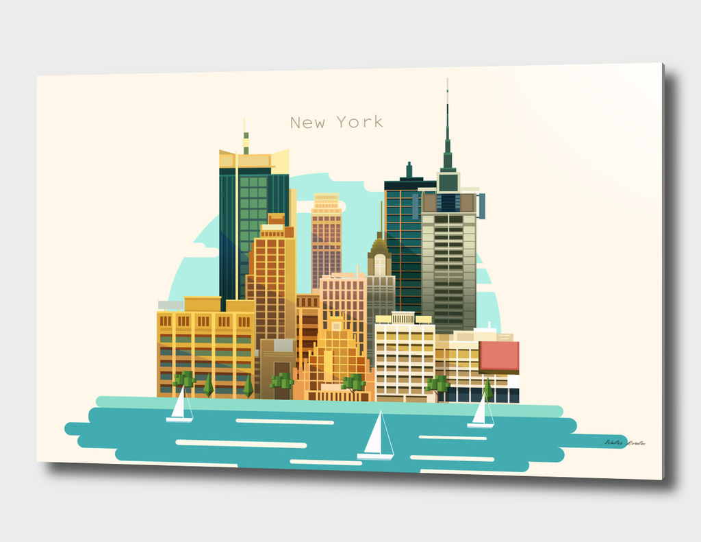 Flat City Illustration