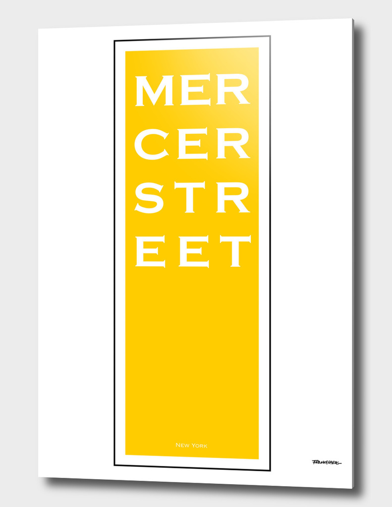 Mercer Street - Yellow - NYC