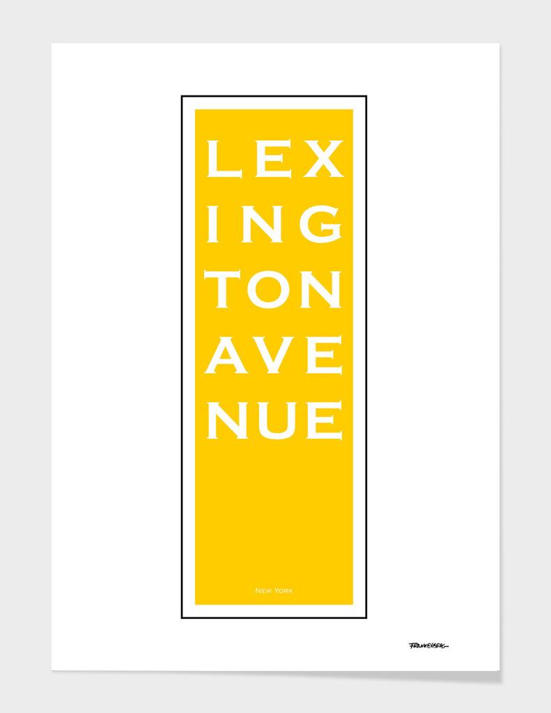 Lexington Avenue - Yellow - NYC