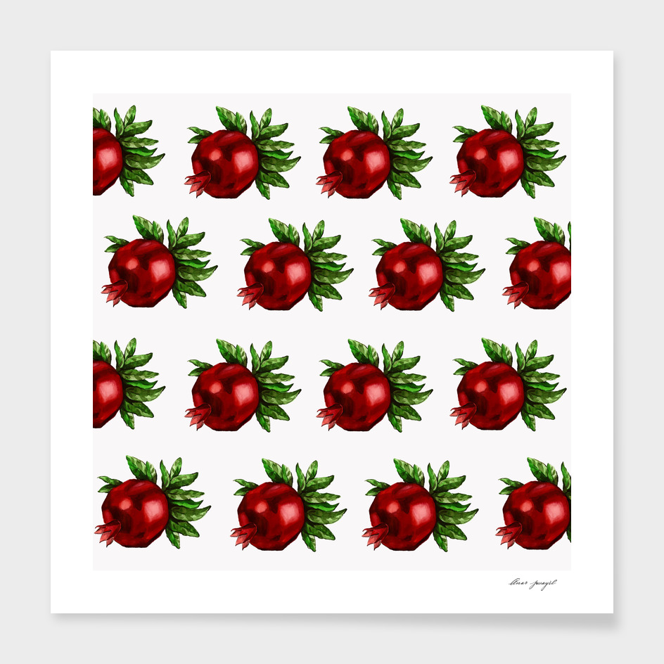watercolor pomegranate pattern