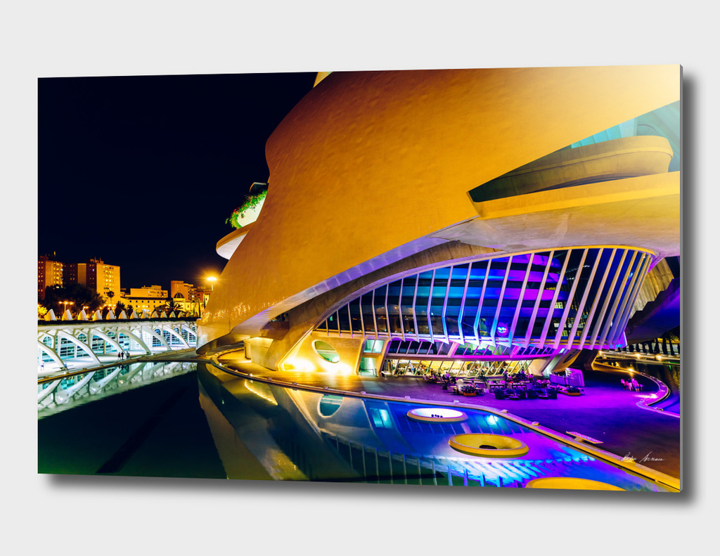 Calatrava City Of Arts And Sciences In City Of Valencia