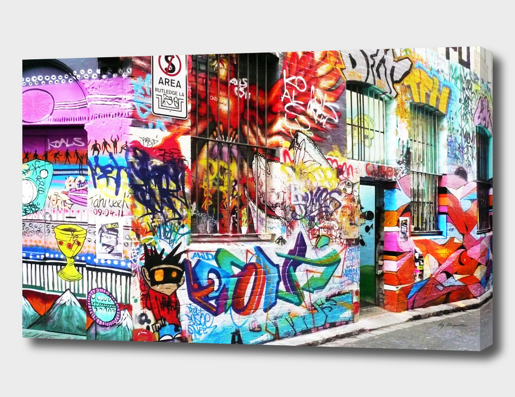 Rutledge Lane Graffiti, Melbourne