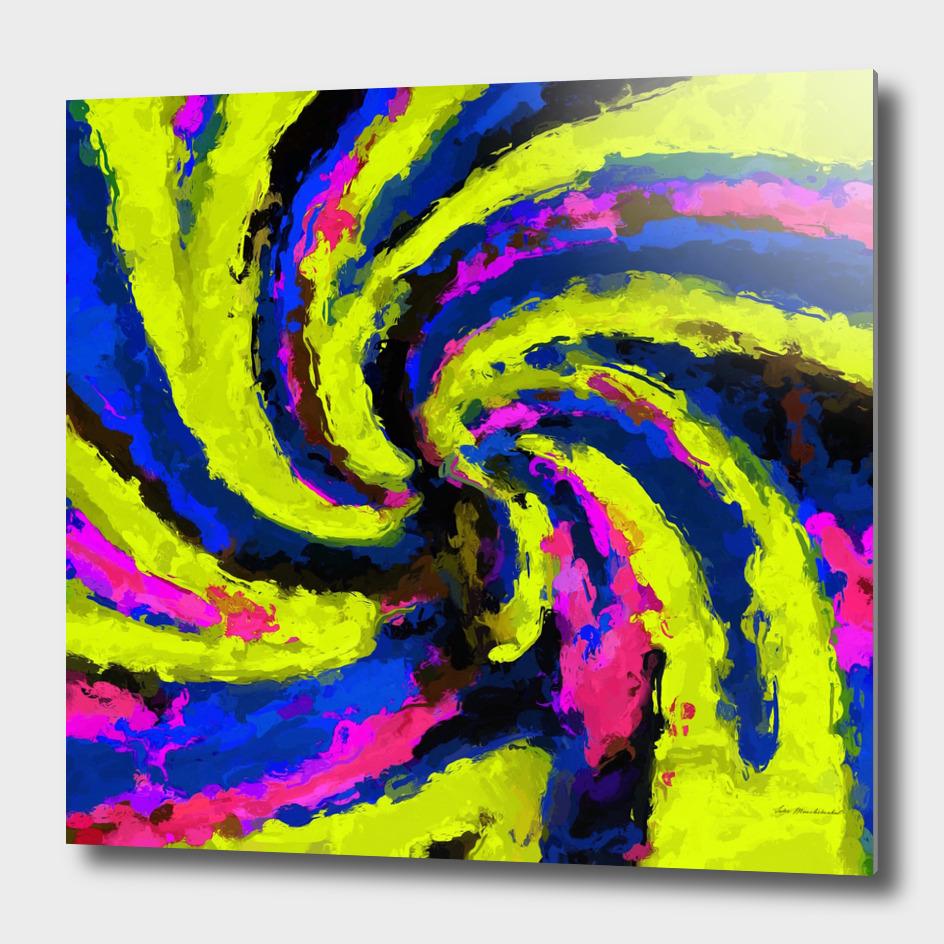 graffiti watercolor splash painting in blue yellow