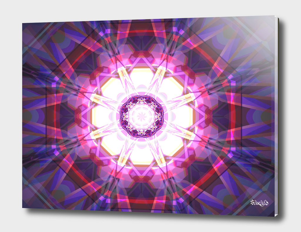 Crystal Refraction - Pink & Purple