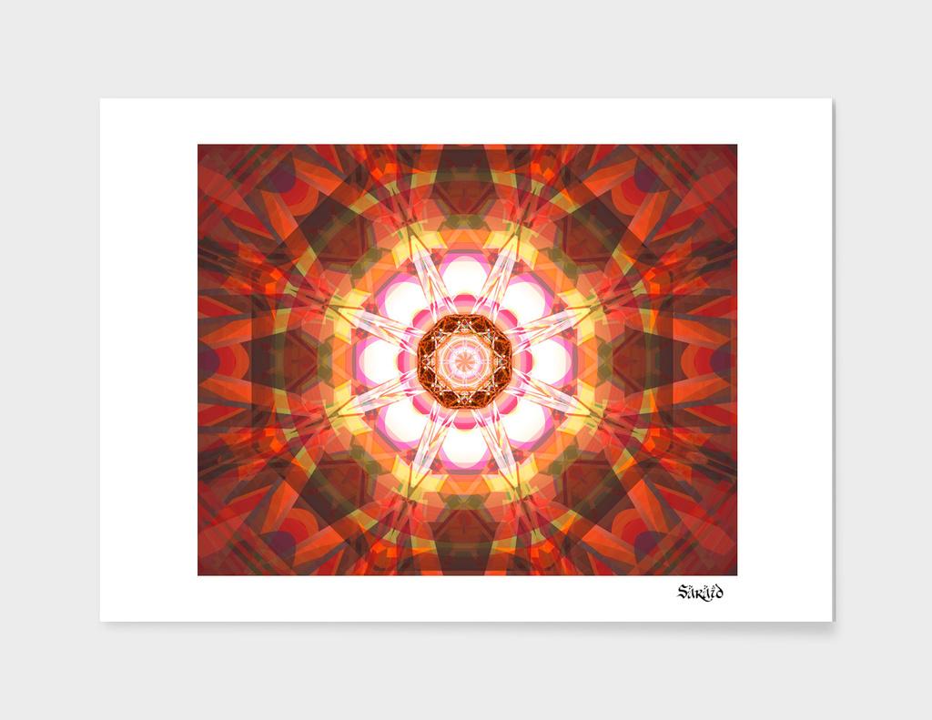 Crystal Refraction - Red & Orange