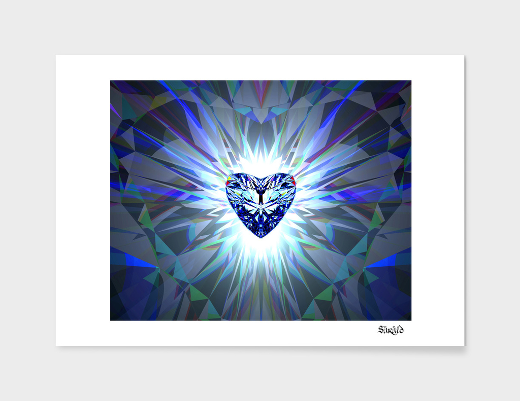 Heart Jewel - Blue
