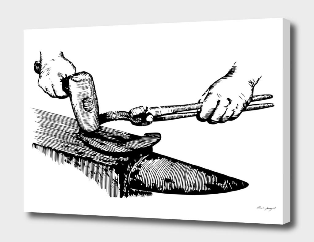 Blacksmith ink art