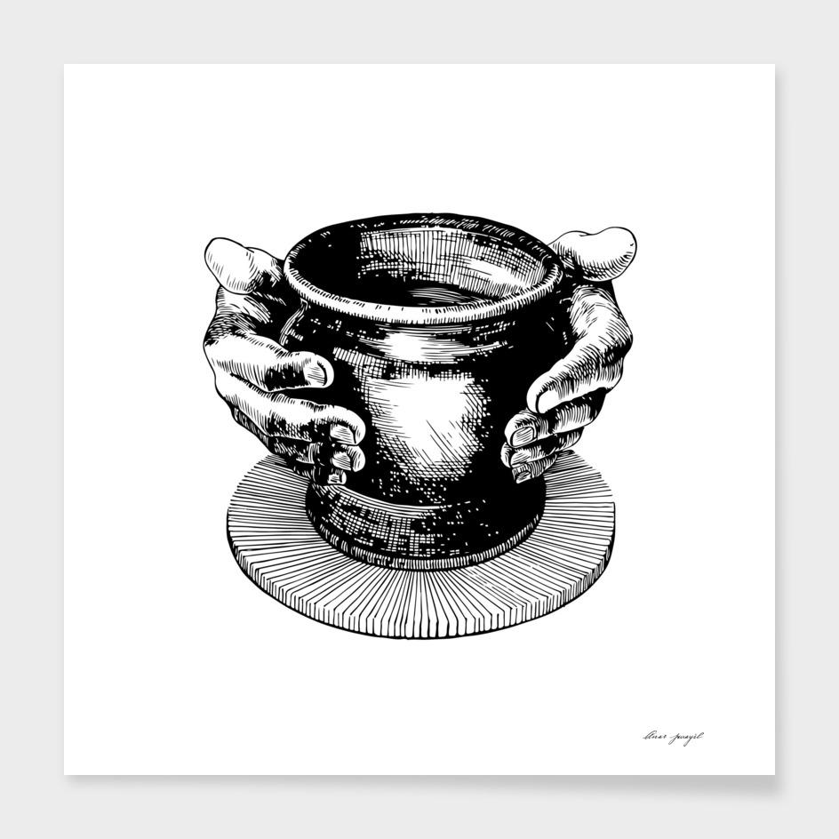 Potter's ink art