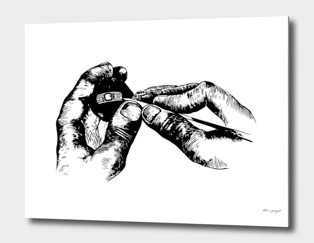 Jeweler ink art