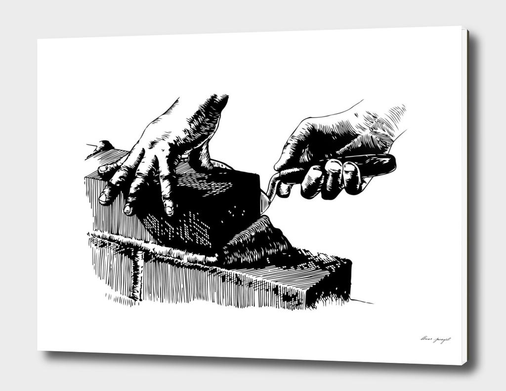Bricklayer ink art