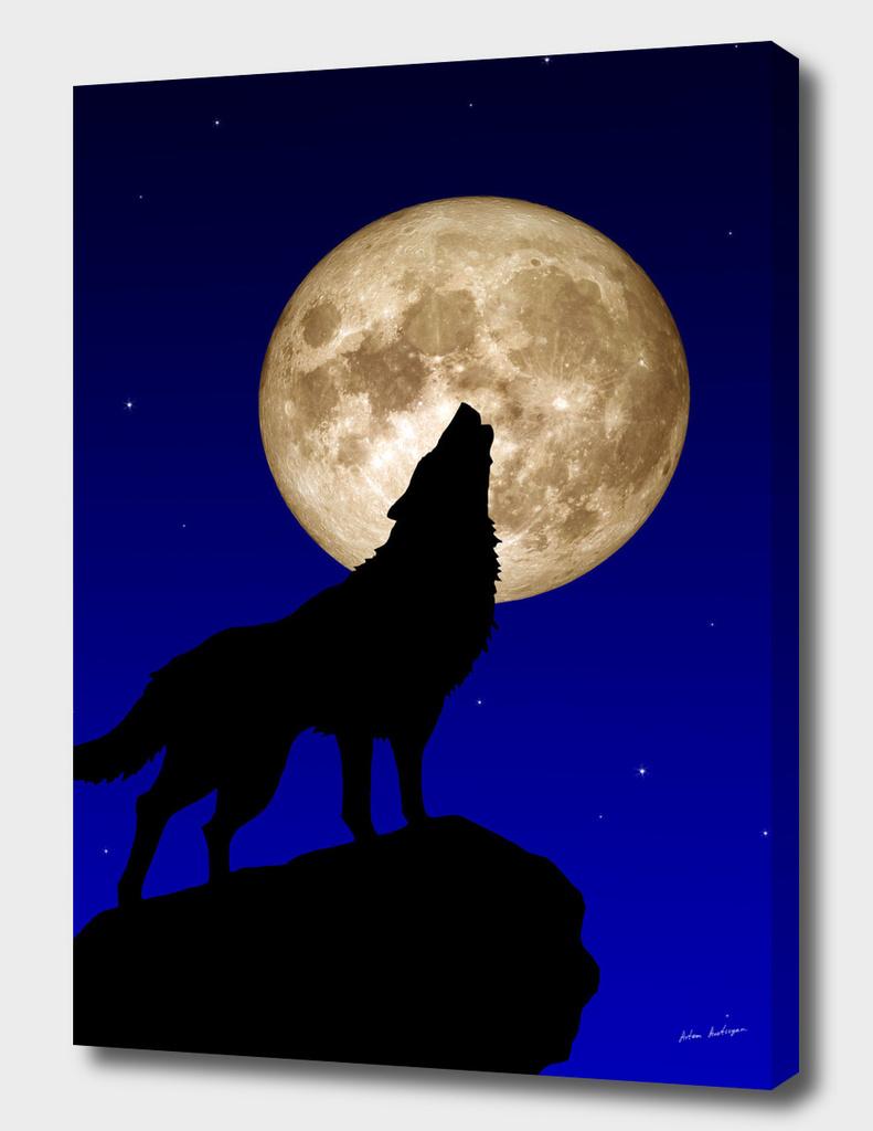 wolf & moon