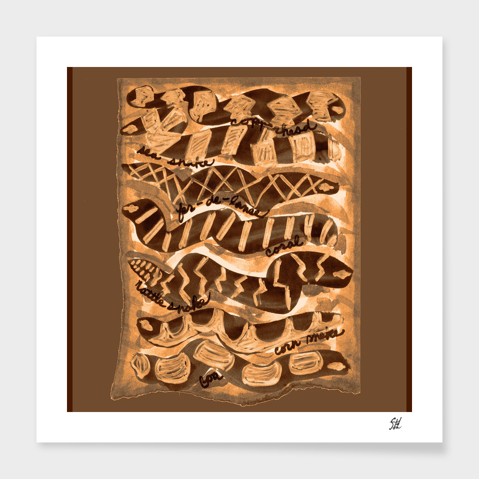 7 Snakes~Earthy Brown