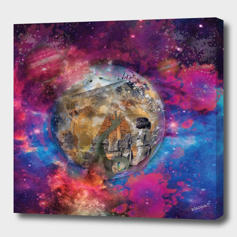Alien world map atlas