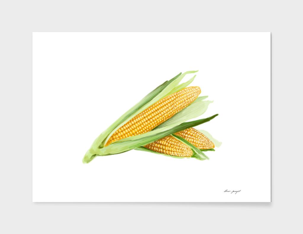 Corns hand painting