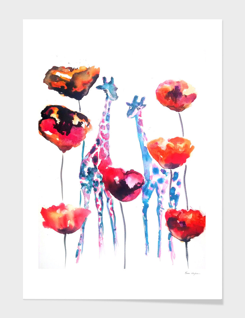 Poppies and Giraffes
