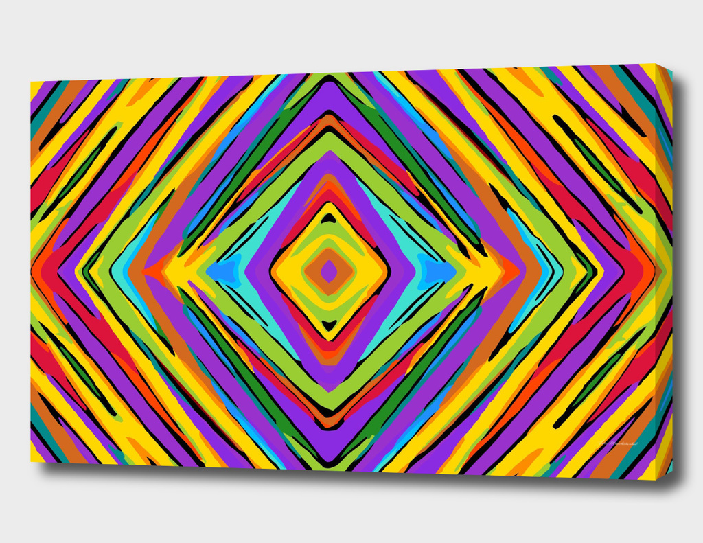 colorful psychedelic geometric graffiti square pattern
