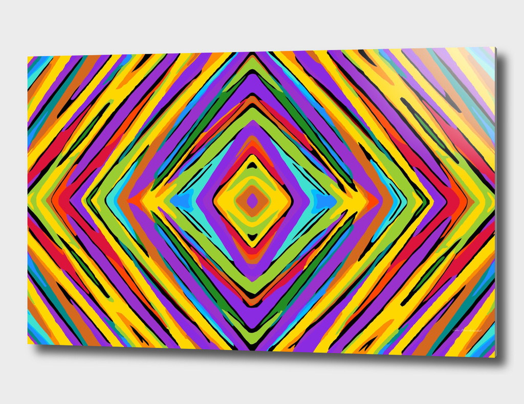 colorful psychedelic geometric graffiti square pattern