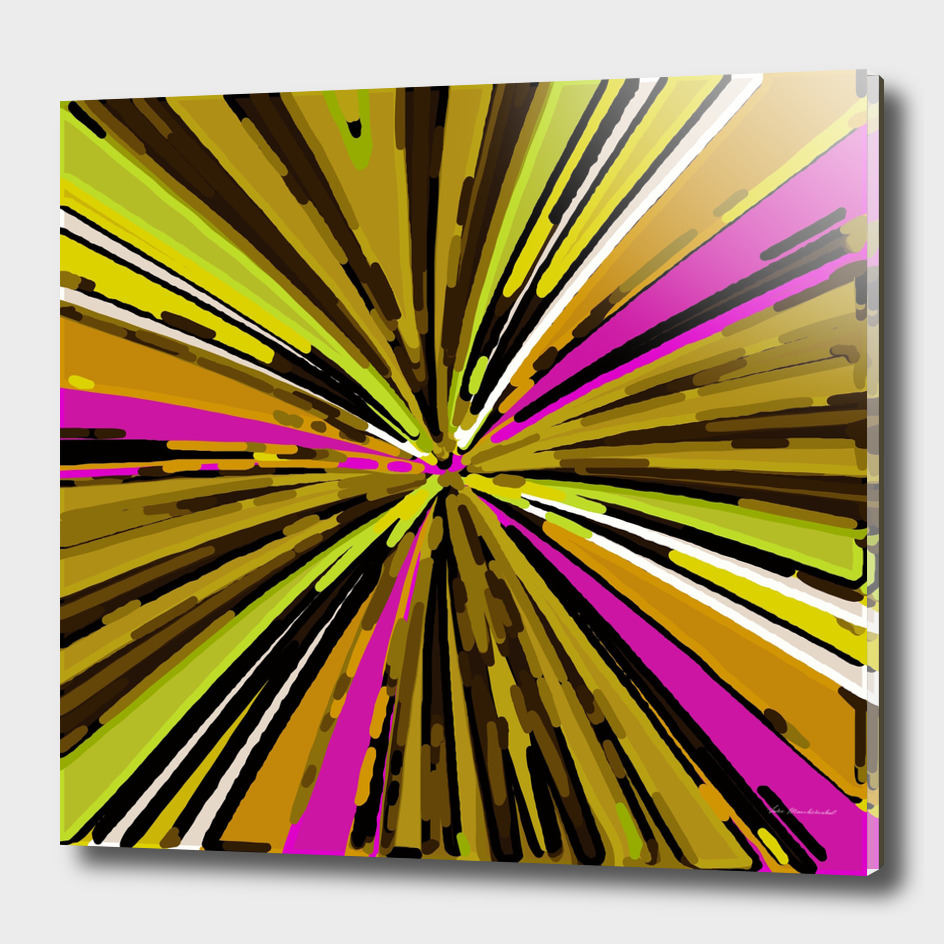 psychedelic geometric graffiti abstract in yellow green pink