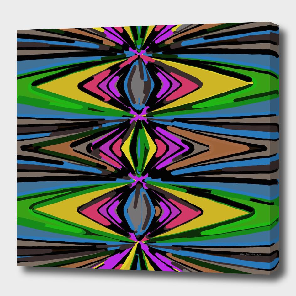 psychedelic geometric graffiti triangle pattern