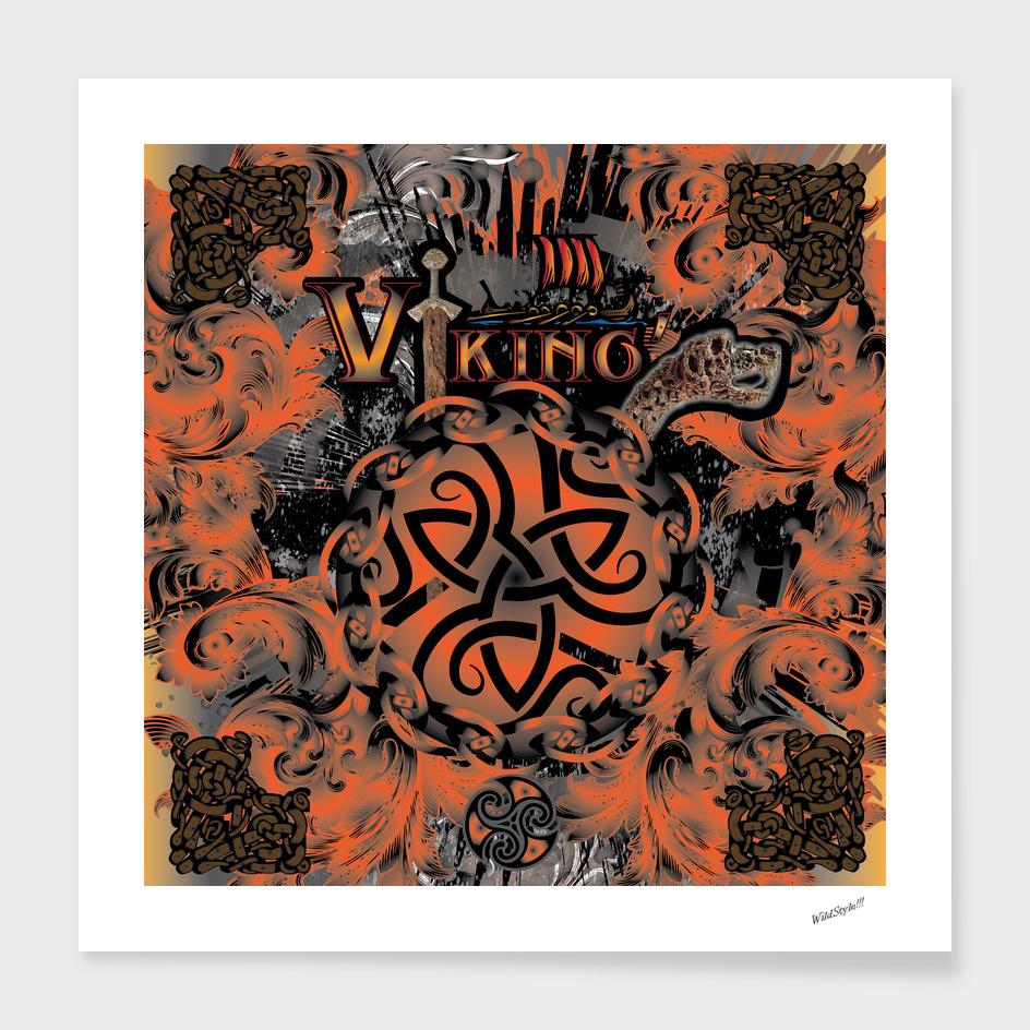 Viking Sword Motif Emblem Design