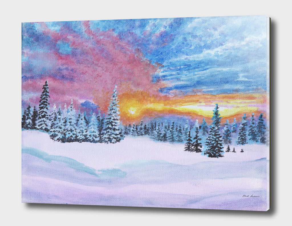 Sunset in a Winter Wonderland