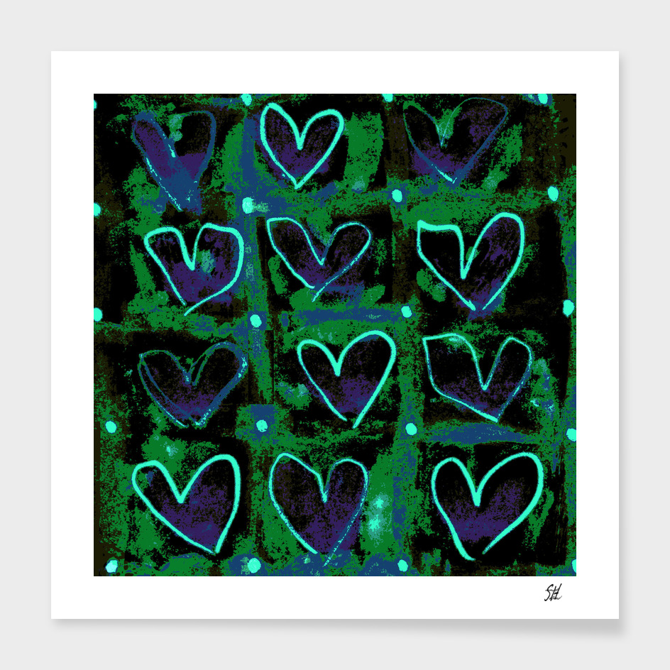 Hearts In The Window ~ Love Overgrowth