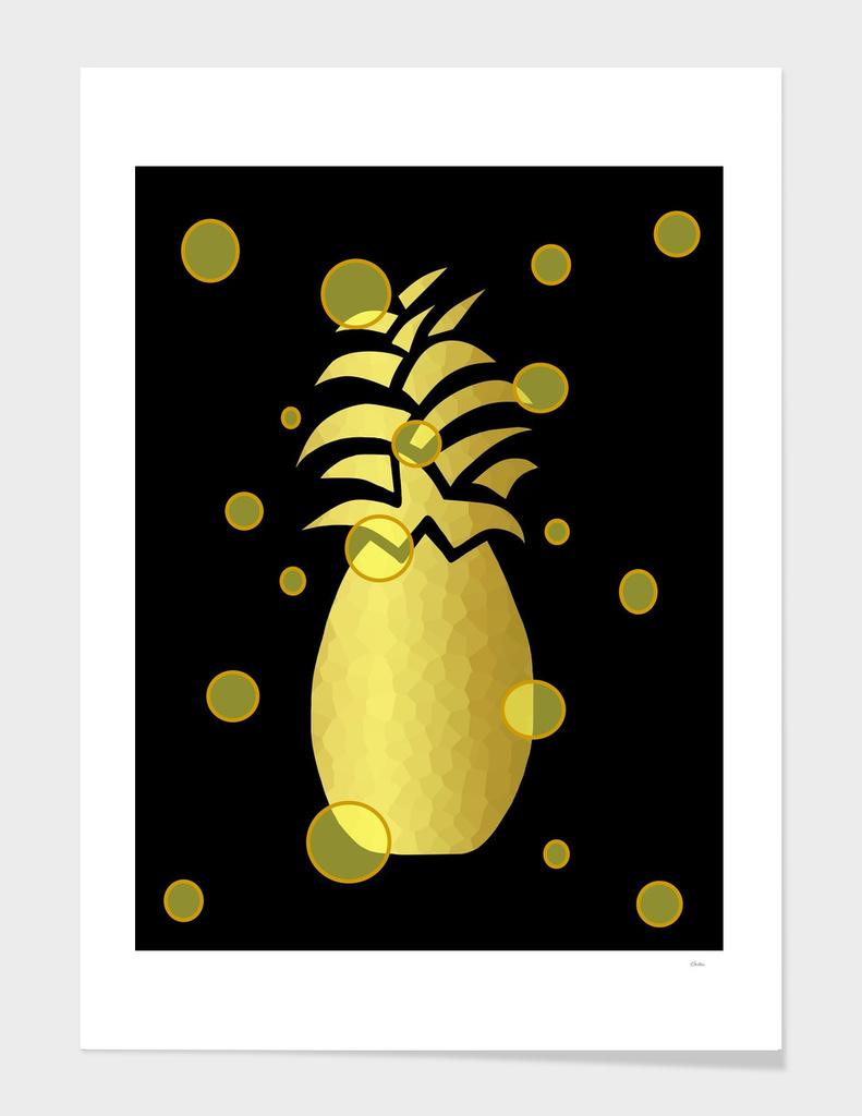 Ornate Gold Pineapple