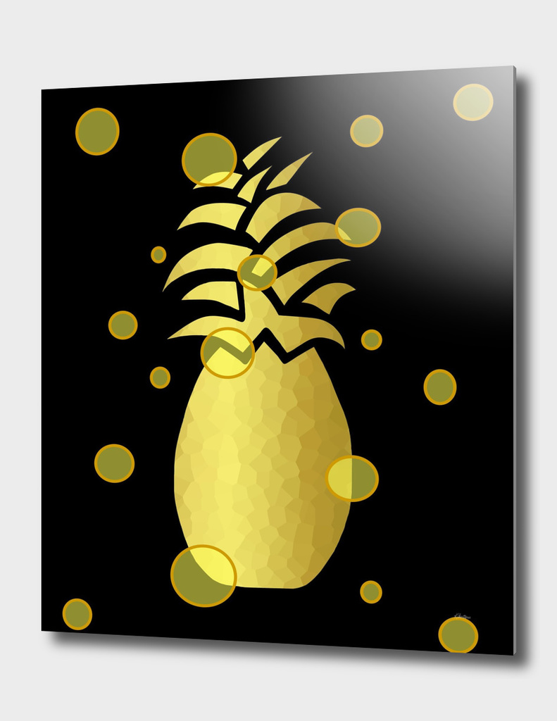Ornate Gold Pineapple