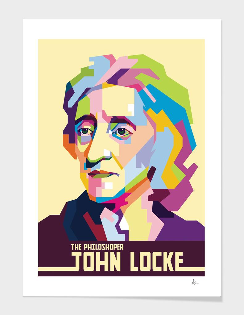 John Locke in Pop Art Portrait